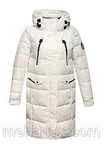 Пуховик-парка Snowimage без меха удлиненный с капюшоном белый
