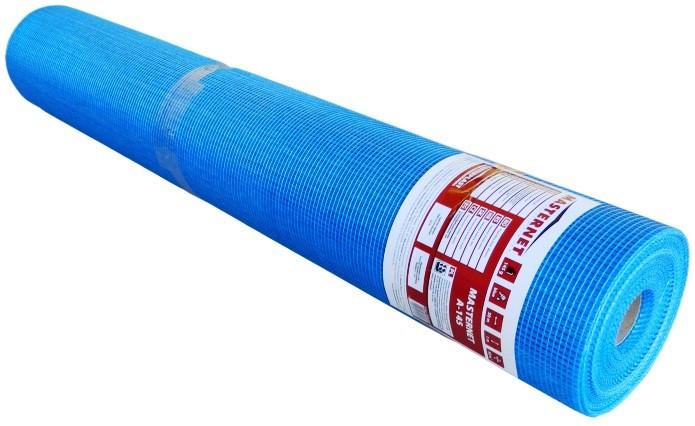 Стеклосетка штукатурная синяя\оранжевая 145г\м.кв MASTERNET (50м2)