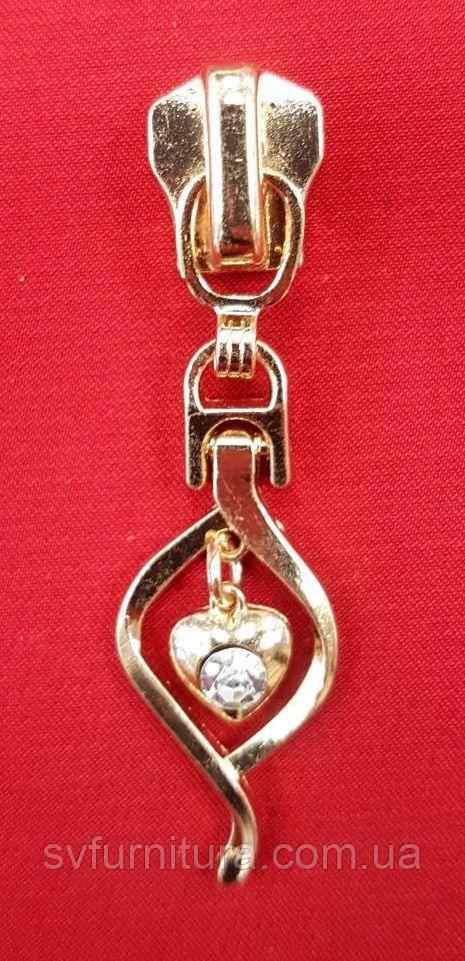Бегунок 5 металл М 108 золото