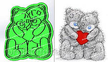Пластикова вирубка з відбитком Ведмедики тедді закохані, 15см