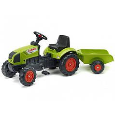 Трактор педальный Falk 2040A Claas с прицепом