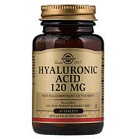 Solgar, Гиалуроновая кислота, 120 мг., 30 таблеток солгар