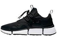 Мужские кроссовки Nike Pocket Knife DM Black White (найк покет, черные/белые)