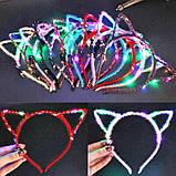 Ободок Ушки Кошки  с LED подсветкой, фото 2