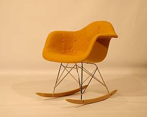 Кресло-качалка Leon Soft Rack Шерсть, цвет желтый, фото 2