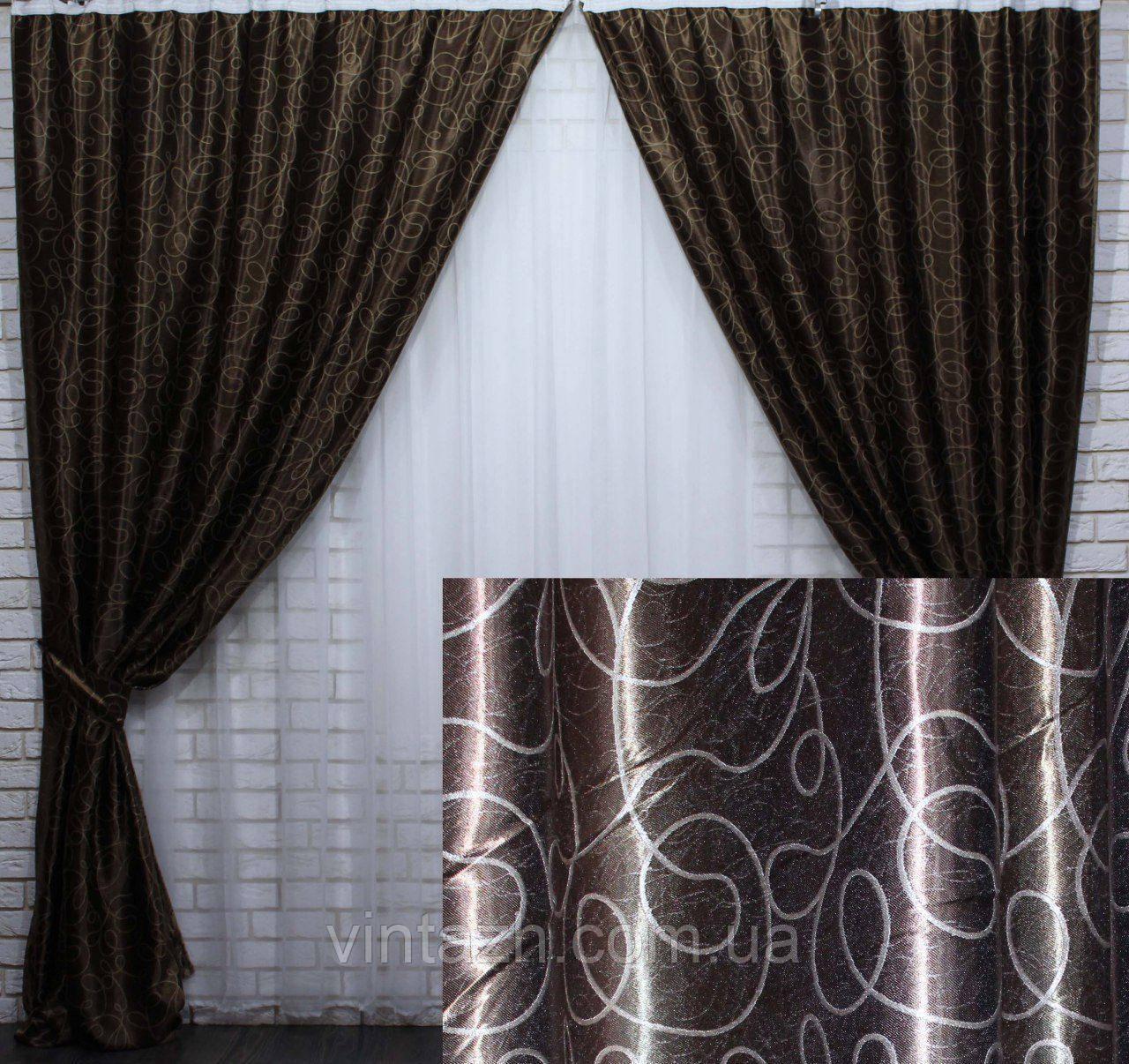 Готовый комплект плотных красивых штор недорого в Украине