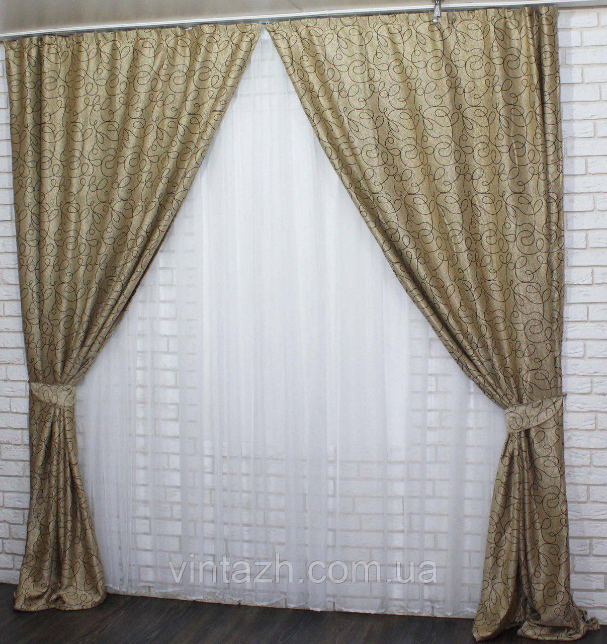 Комплект плотных красивых штор недорого от производителя