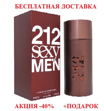 Carolina Herrera 212 Sexy Men Каролина Херрера 212 Сексуальные мужчины Original size мужская Туалетная вода, фото 2