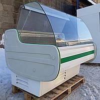 Холодильная витрина гастрономическая «JUKA W-1 120/110 SG» 1.3 м. (Польша), широкая выкладка Б/у , фото 1