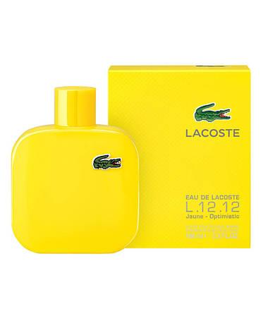 Lacoste L.12.12 Jaune Optimistic, 100 ml Originalsize мужская туалетная вода тестер духи аромат , фото 2
