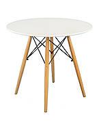 Обідній стіл в скандинавському стилі Lui d-60 , колір білий