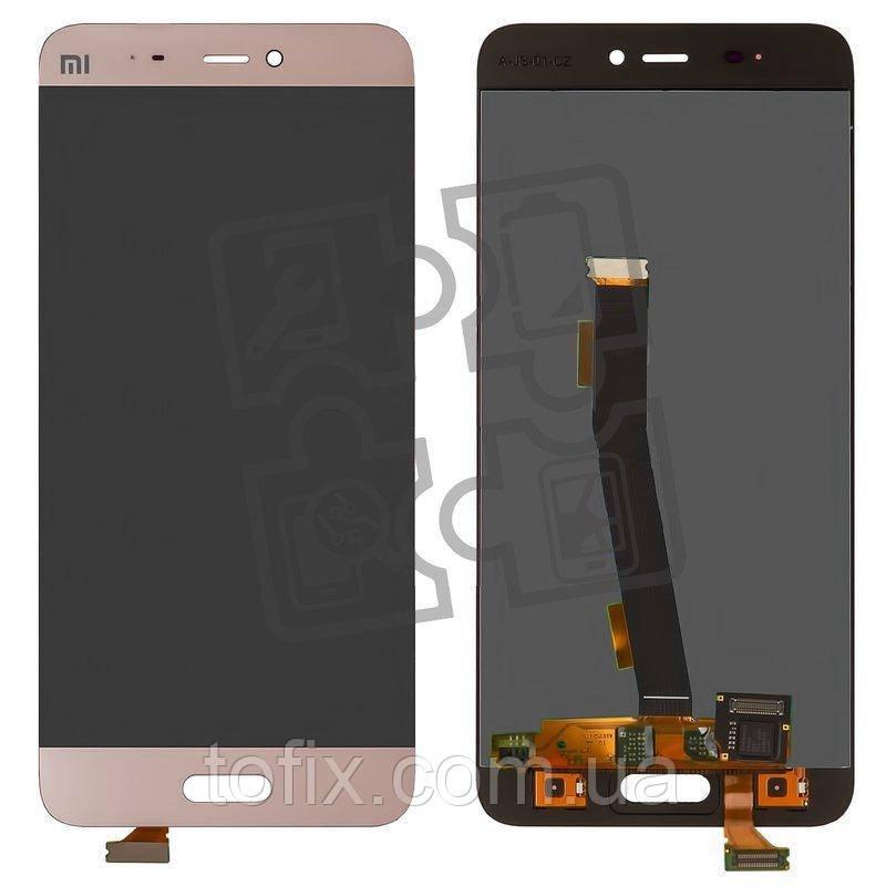 Дисплей для Xiaomi Mi5, Xiaomi Mi5 Pro, модуль в сборе (экран и сенсор), золотисто-розовый, оригинал