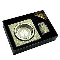 Подарочный набор (Пепепельница с зажигалкой)(21х15,5х5 см)