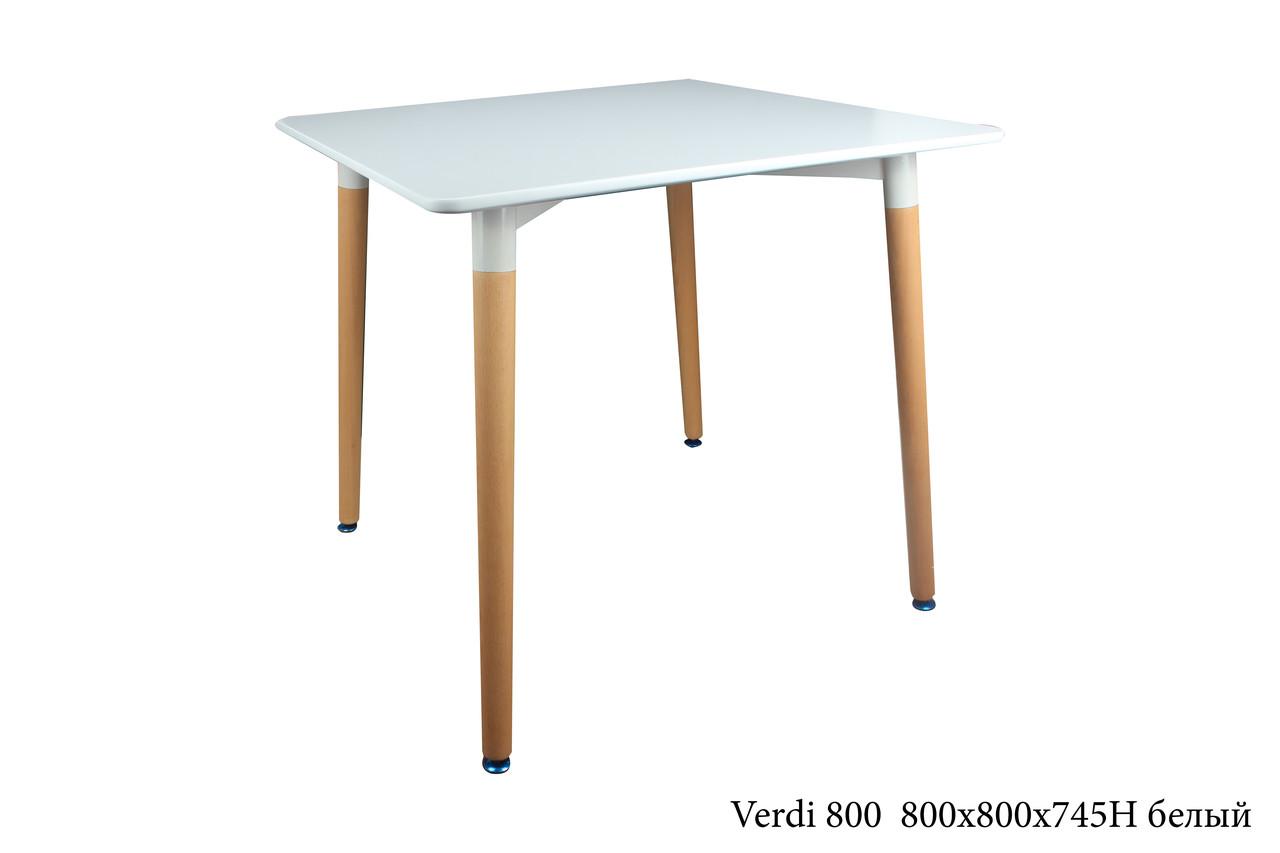 Обеденный стол в скандинавском стиле Verdi 800 , цвет белый