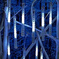 """РАСПРОДАЖА! LED гирлянда """"Тающие сосульки"""", """"Метеоритный дождь"""" 8 сосулек по 30 см белый цвет"""