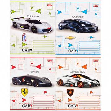 Тетрадь цветная 12 листов, линия «Футуристический автомобиль          20 штук         2540л, фото 2