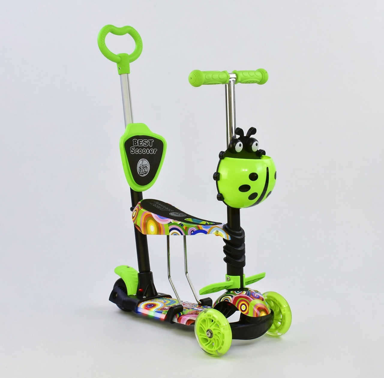Best Scooter Самокат 5 в 1 Best Scooter 71205 Green/Abstraction (71205)
