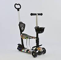 Best Scooter Самокат 5 в 1 Best Scooter 64020 Black/Graffiti (64020), фото 1
