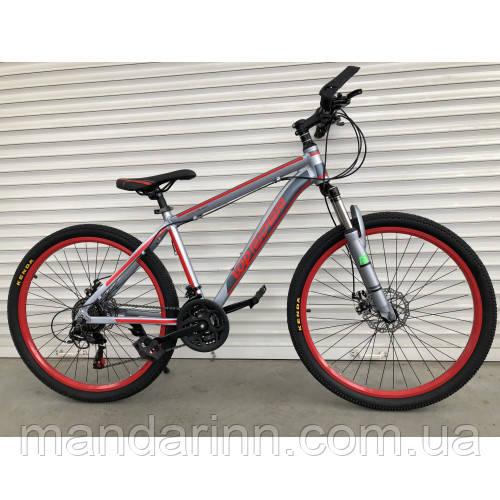 """Велосипед горный TopRider-424 26"""" алюминиевый красный"""
