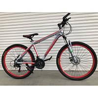 """Велосипед горный TopRider-424 26"""" алюминиевый красный, фото 1"""