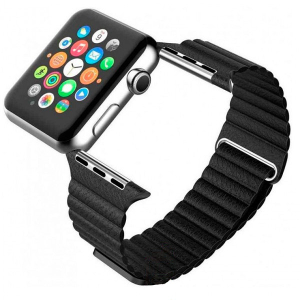 Ремешок Apple Watch Leather Loop 38mm черный