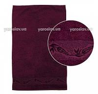 Полотенце махровое бордового цвета 50х90  Ярослав
