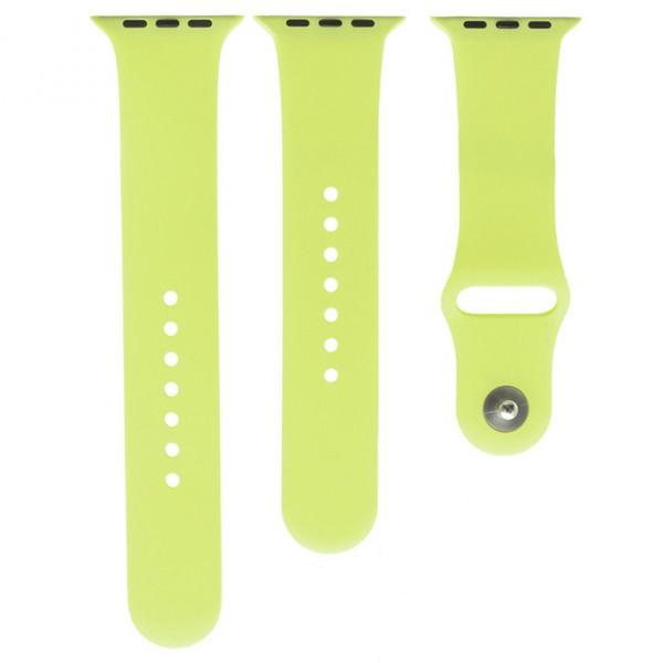 Ремешок Apple Watch Band Silicone Two-Piece 42mm 33, светло-зеленый