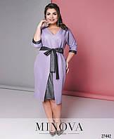 Модное женское мерцающее платье батал, фото 1