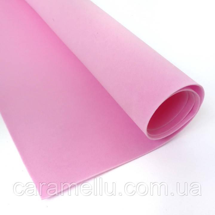 Фоамиран Зефирный Розовый, 1мм, 50×50см.
