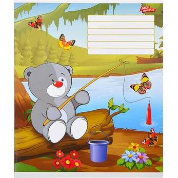 Тетрадь цветная 12 листов, линия «Милый мишка                 20 штук           2824л, фото 2