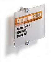 Табличка настенная информационная  акрил 210х 148 мм DURABLE 4823 19, фото 1