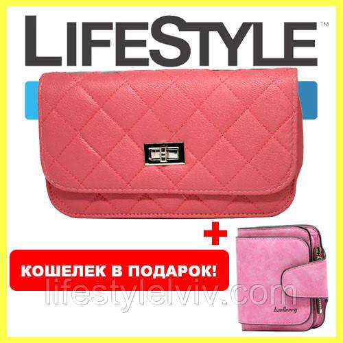 bf8eb8deab9b Женская сумка клатч Chanel + Кошелек Baellerry Forever Mini в подарок -  Интернет магазин LifeStyle в