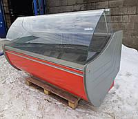 Холодильная витрина гастрономическая «Технохолод Флорида» 2.0 м. (Украина), широкая выкладка Б/у , фото 1