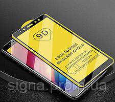 Защитное стекло 9D Full Glue для Samsung J8 2018 / J810 полноэкранное черное