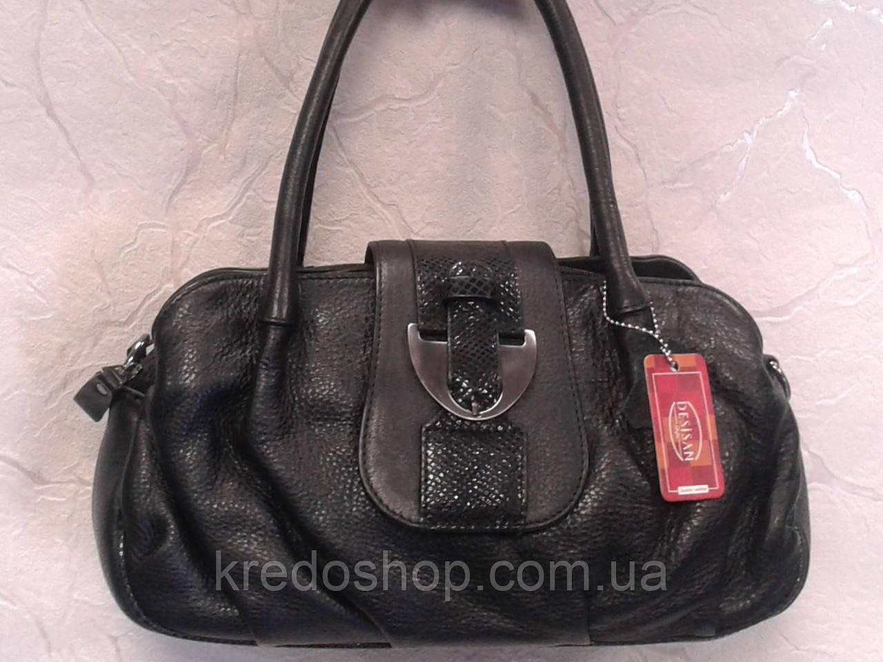 9ca0a1553fd0 Сумка женская кожаная черная фирмы Desisan(Турция) - Интернет-магазин сумок  и аксессуаров