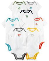 Боди Картер с коротким рукавом для новорожденных 12-18-24 мес. Белые с цветной оккантовкой. Поштучно Carter's