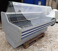 Холодильная витрина гастрономическая «Технохолод Кентуки» 2.0 м. (Украина), широкая выкладка Б/у , фото 1
