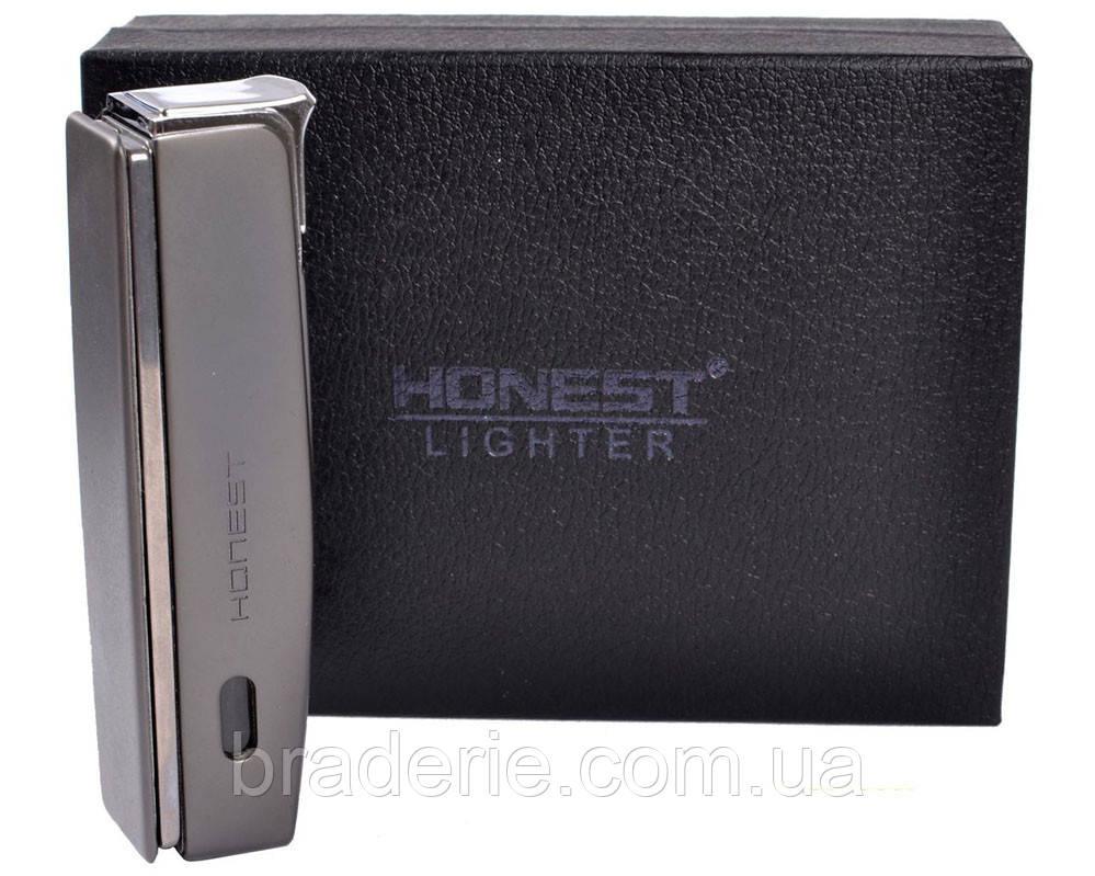Зажигалка подарочная Honest 3006 с ножницами для сигар