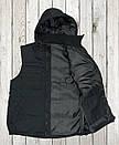 Жилетка - безрукавка утеплённая САРЖА BLACK , фото 2