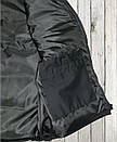 Жилетка - безрукавка утеплённая САРЖА BLACK , фото 3
