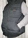 Жилетка - безрукавка утеплённая САРЖА BLACK , фото 5