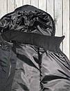Жилетка - безрукавка утеплённая САРЖА BLACK , фото 8