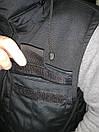 Жилетка - безрукавка утеплённая САРЖА BLACK , фото 6