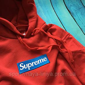Худи  Supreme Total RED  •  Унисекс • Ориг. бирки • Топовая реплика, фото 2