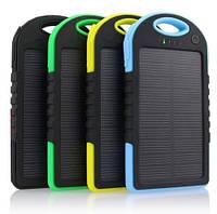 Power Bank 10000 mAh, солнечная зарядка, фонари, внешний Аккумулятор, батарея, Повер банк
