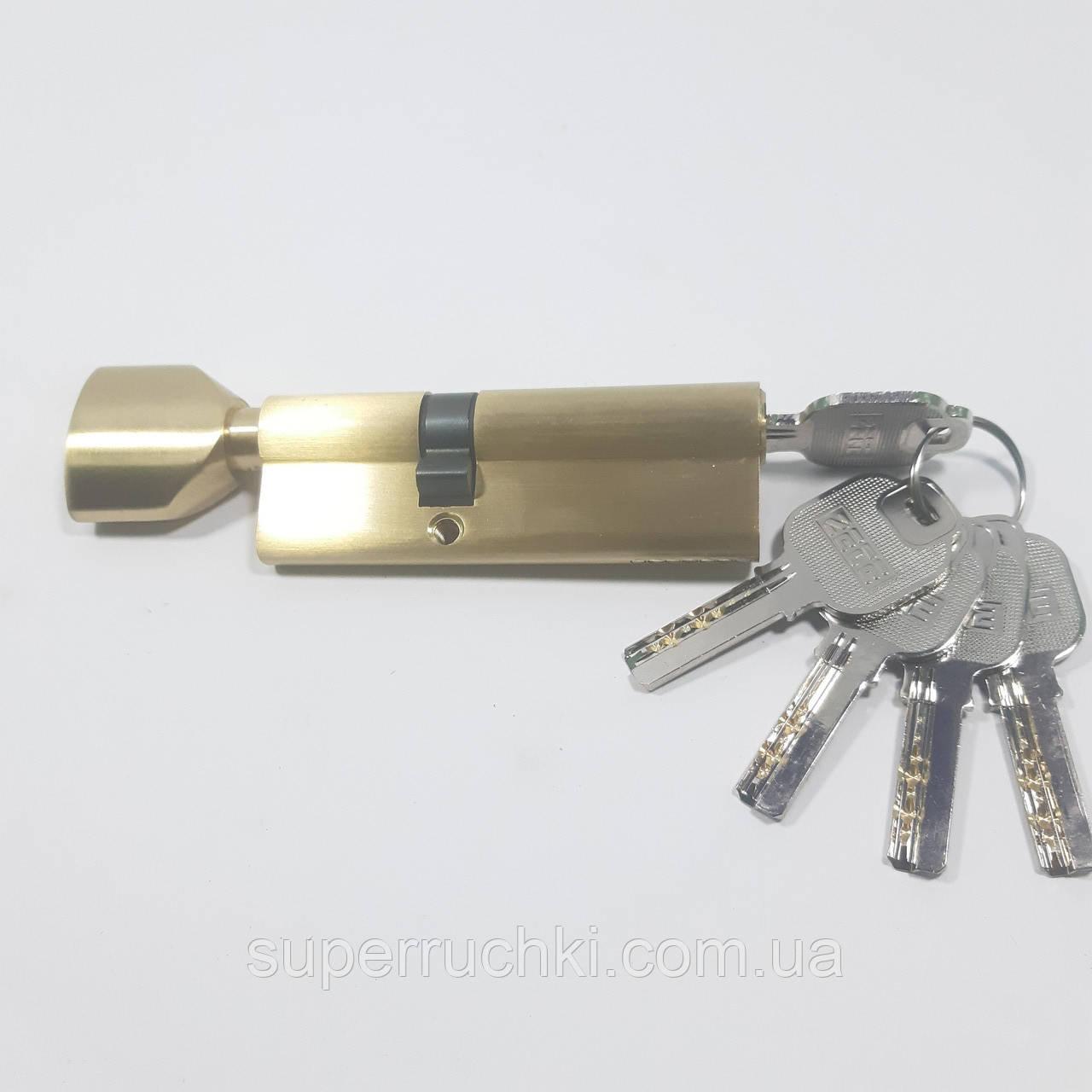 Цилиндровый механизм ZETE 90 мм (35*55) GP (матовое золото)