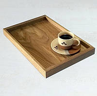 Поднос деревянный кухонный 450х300х40мм