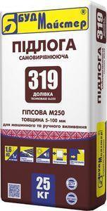 """Гипсовая смесь д/пола, маш.нанес. (5-60мм) """"ДОЛІВКА-319""""  (25кг) БудМайстер"""