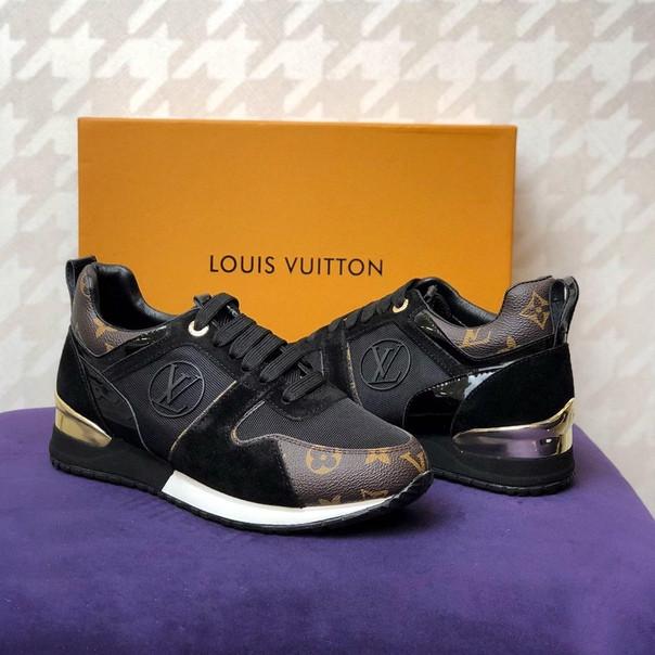 9fcfd1a19eaa Женские кроссовки Louis Vuitton Run Away black / brown - si shop в Киеве