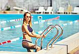 Купальник женский раздельный спортивный  халтер синий ( размер XS, S,M, L, XL), фото 2